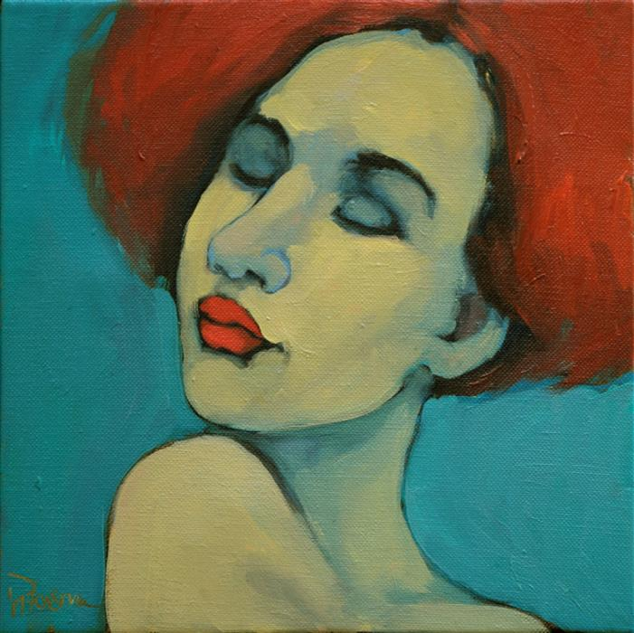 Discover Original Art by Kayleen Horsma | The Bluish Pink oil painting | Art for Sale Online at UGallery