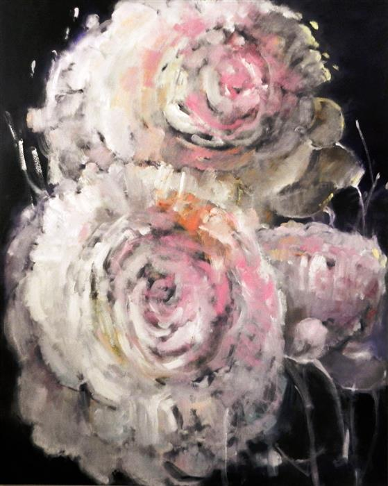 Discover Original Art by Mary Pratt | Peonies oil painting | Art for Sale Online at UGallery