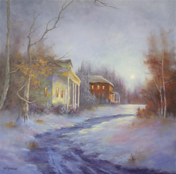 Discover Original Art by Gail Greene | Old Cottage Road oil painting | Art for Sale Online at UGallery