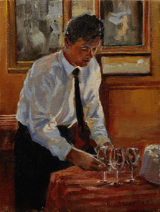 Discover Original Art by Onelio Marrero | Setting Out Glasses oil painting | Art for Sale Online at UGallery