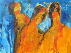 Expressionism art,People art,Representational art,acrylic painting,The Outsider