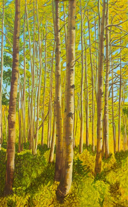 Discover Original Art by Crystal DiPietro | Forest for the Trees oil painting | Art for Sale Online at UGallery