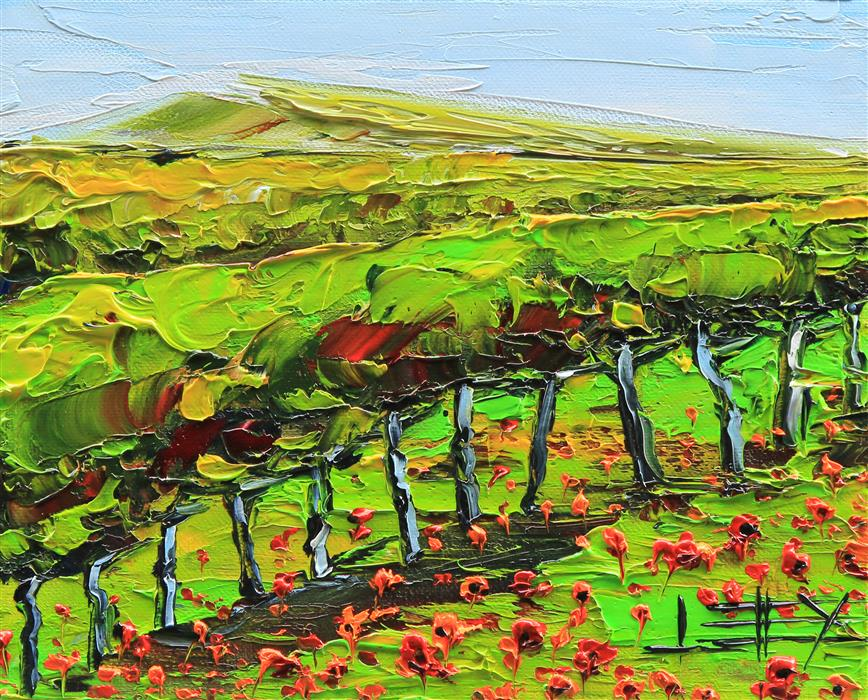 Discover Original Art by Lisa Elley | Napa Valley Greenery oil painting | Art for Sale Online at UGallery