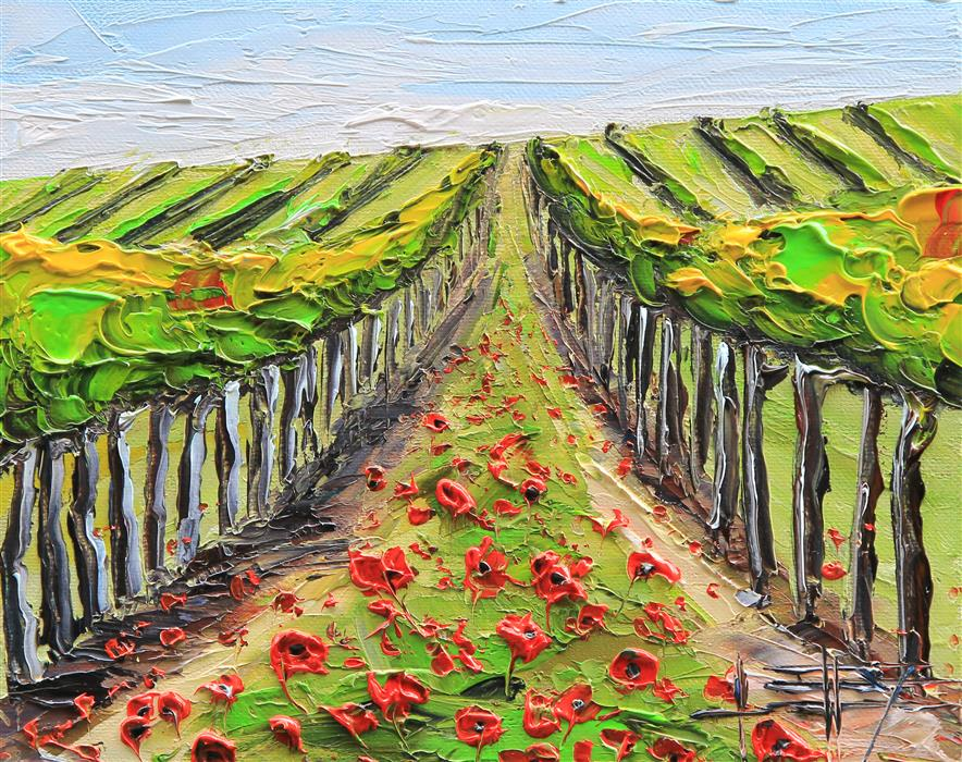 Discover Original Art by Lisa Elley | Summer in Napa Valley oil painting | Art for Sale Online at UGallery