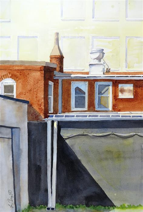 Discover Original Art by Nancy Muren | Angle Study - Washington, DC watercolor painting | Art for Sale Online at UGallery