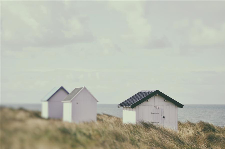 Discover Original Art by Carina Okula | Beach Huts 1 photography | Art for Sale Online at UGallery