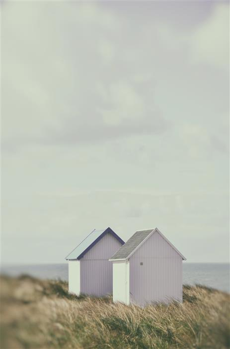 Discover Original Art by Carina Okula | Beach Huts 2 photography | Art for Sale Online at UGallery