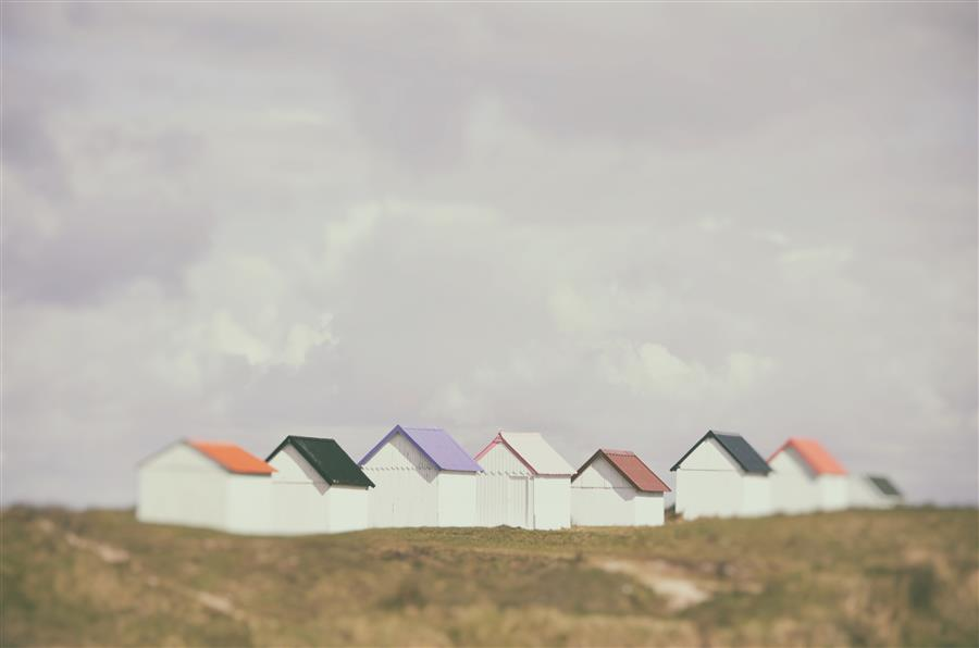 Discover Original Art by Carina Okula | Beach Huts 3 photography | Art for Sale Online at UGallery