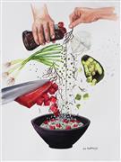 Pop art,Cuisine art,Realism art,Representational art,watercolor painting,How to Make a Poke Bowl
