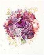 Flora art,Representational art,Vintage art,mixed media artwork,Warm Blooms