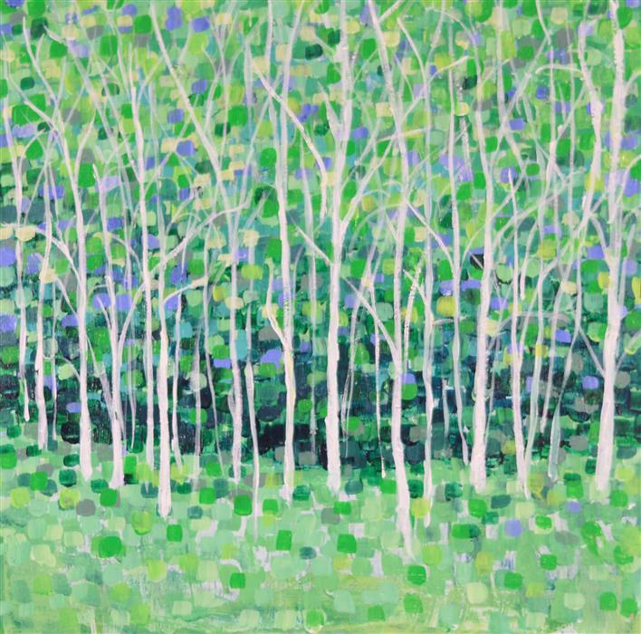 Discover Original Art by Tamara Gonda | Tree Line acrylic painting | Art for Sale Online at UGallery