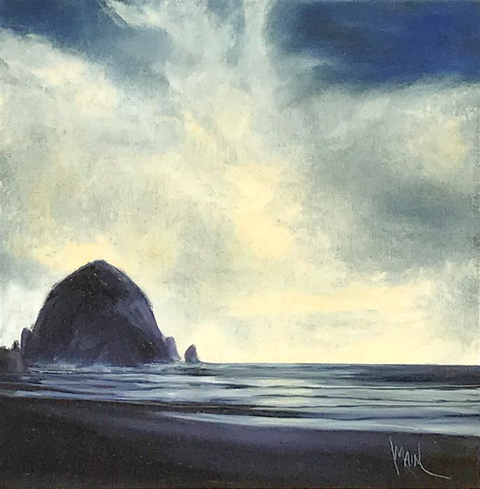Discover Original Art by Mandy Main | Haystack Rock XI oil painting | Art for Sale Online at UGallery