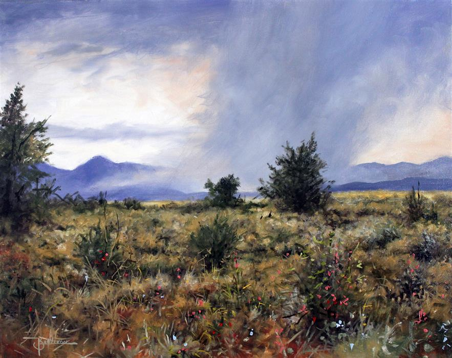 Discover Original Art by Kent Sullivan   High Plains Storm oil painting   Art for Sale Online at UGallery