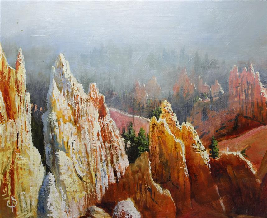 Discover Original Art by Kent Sullivan   Bryce Canyon oil painting   Art for Sale Online at UGallery