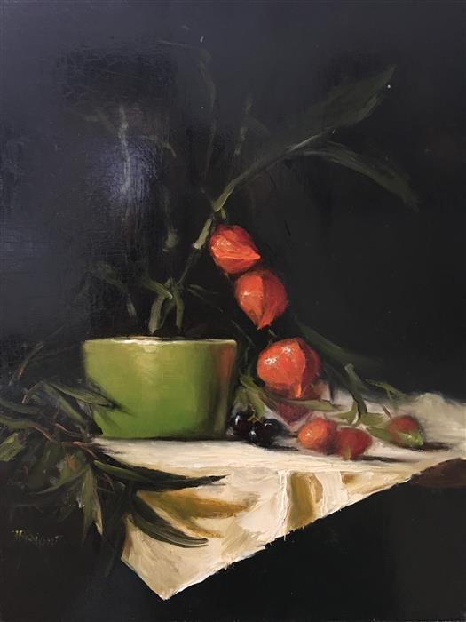 Discover Original Art by Julia Bright | Chinese Lanterns oil painting | Art for Sale Online at UGallery