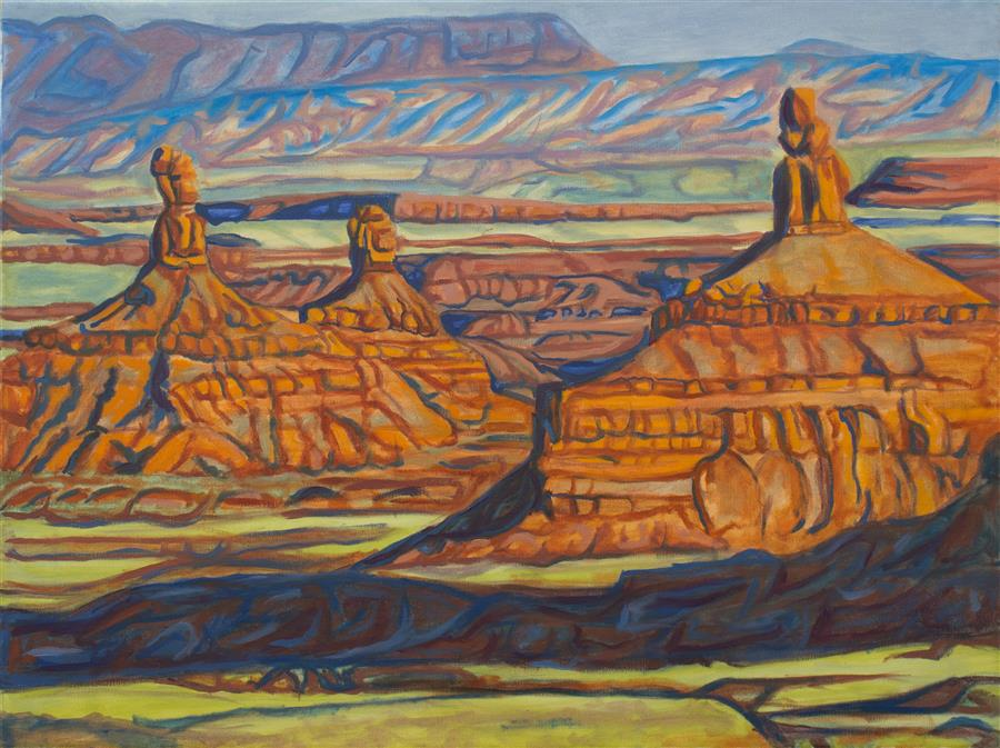 Discover Original Art by Crystal DiPietro | Evening in Valley of the Gods oil painting | Art for Sale Online at UGallery