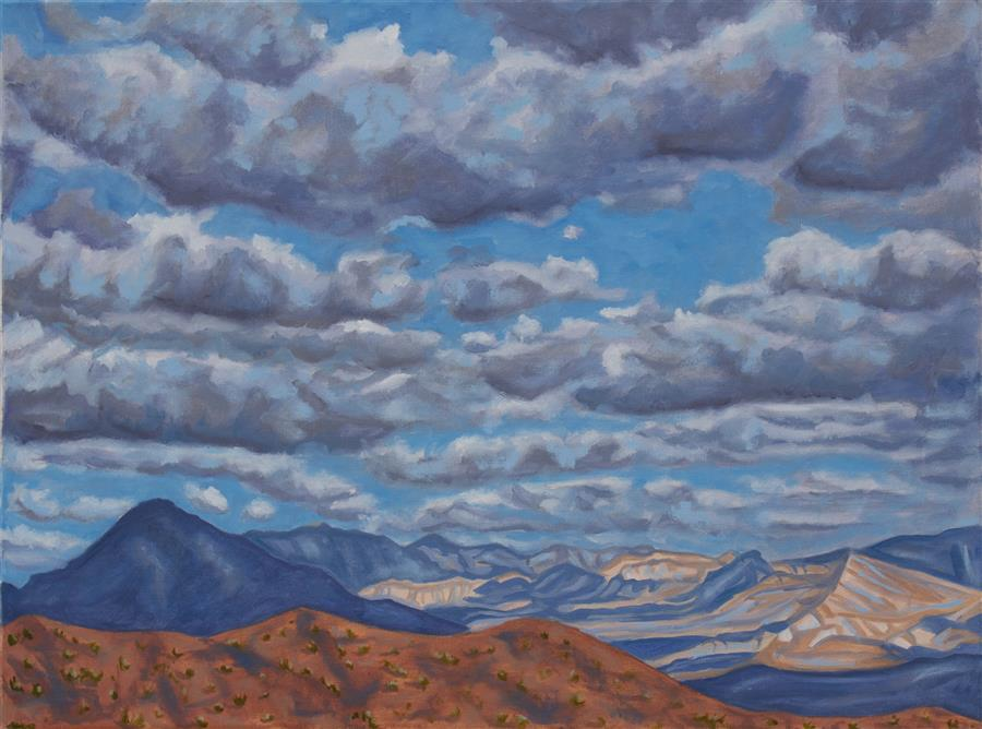 Discover Original Art by Crystal DiPietro | Clouds That Come & Go with Nary a Thought oil painting | Art for Sale Online at UGallery
