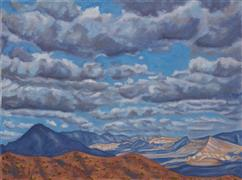 Impressionism art,Landscape art,Nature art,Representational art,oil painting,Clouds That Come & Go with Nary a Thought