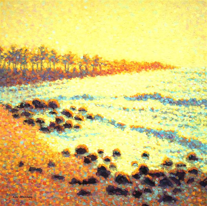 Discover Original Art by Kim Stenberg | Kauai Dawn oil painting | Art for Sale Online at UGallery