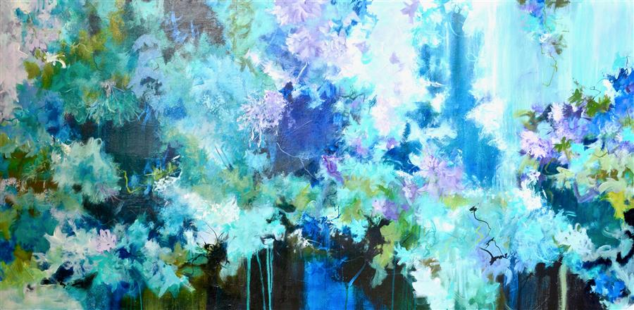 Discover Original Art by DL Watson | Blue Days 11 acrylic painting | Art for Sale Online at UGallery