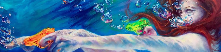 Discover Original Art by Jennifer Hannaford | Pew! Pew, Pew! oil painting | Art for Sale Online at UGallery
