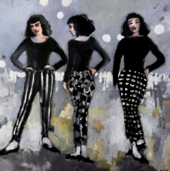 Discover Original Art by Mary Pratt | When Hips Were Style oil painting | Art for Sale Online at UGallery