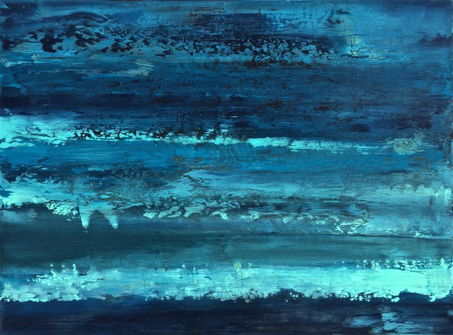 Discover Original Art by Alicia Dunn | Moonlit acrylic painting | Art for Sale Online at UGallery