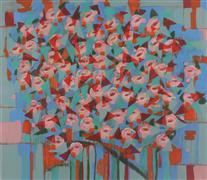 Abstract art,Flora art,Non-representational art,Modern  art,acrylic painting,For Alice
