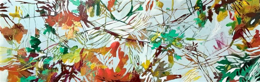 Discover Original Art by DL Watson | Fall into Spring acrylic painting | Art for Sale Online at UGallery