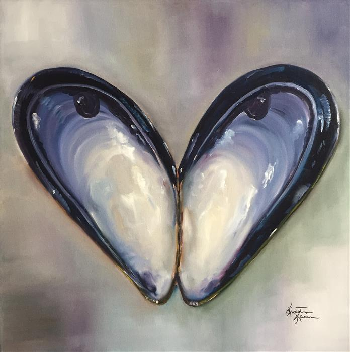 Discover Original Art by Kristine Kainer | Blue Mussel oil painting | Art for Sale Online at UGallery
