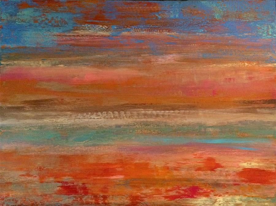 Discover Original Art by Alicia Dunn | The Sun Pours Down Like Honey acrylic painting | Art for Sale Online at UGallery