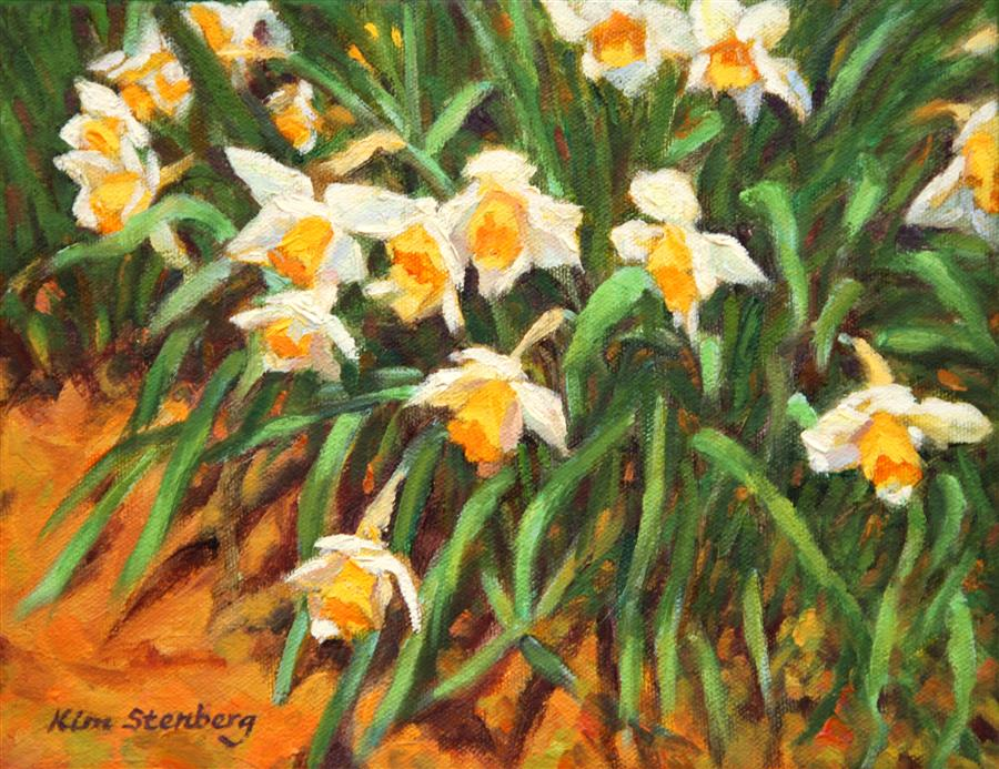 Discover Original Art by Kim Stenberg | Daffodil Love oil painting | Art for Sale Online at UGallery