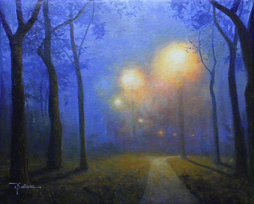Discover Original Art by Kent Sullivan   Lamp Posts oil painting   Art for Sale Online at UGallery