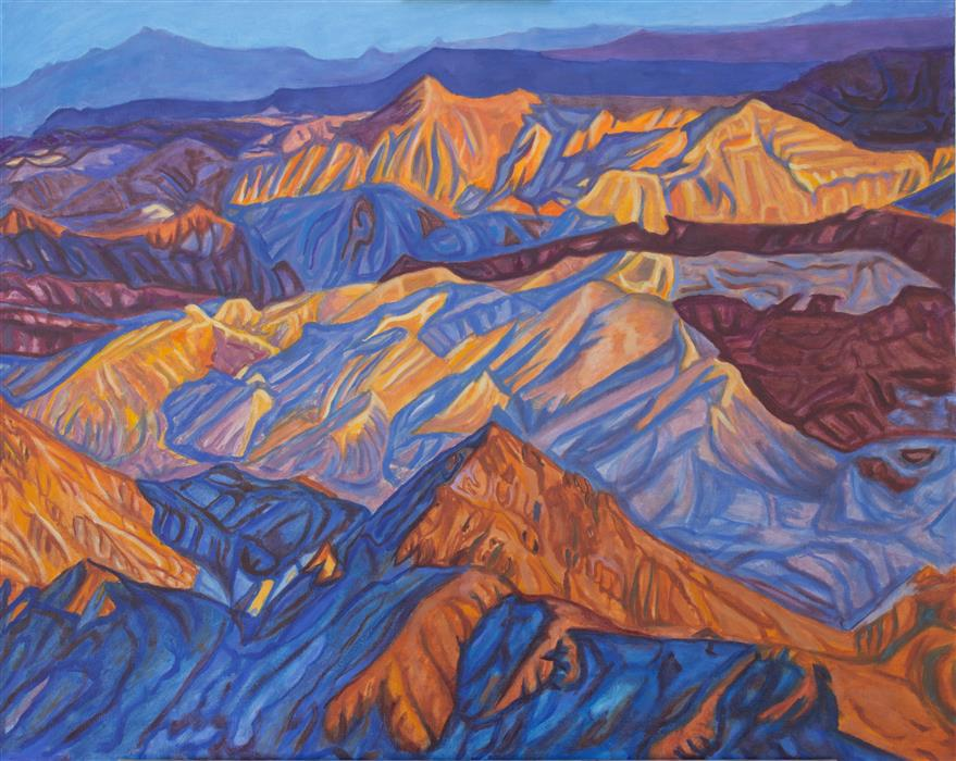 Discover Original Art by Crystal DiPietro | Sun It Rises (from Boulder Peak) oil painting | Art for Sale Online at UGallery