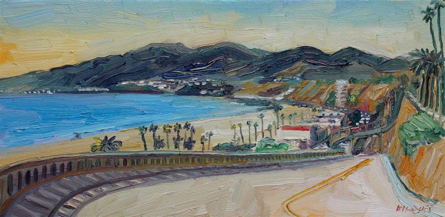 Discover Original Art by John Kilduff   California Incline oil painting   Art for Sale Online at UGallery