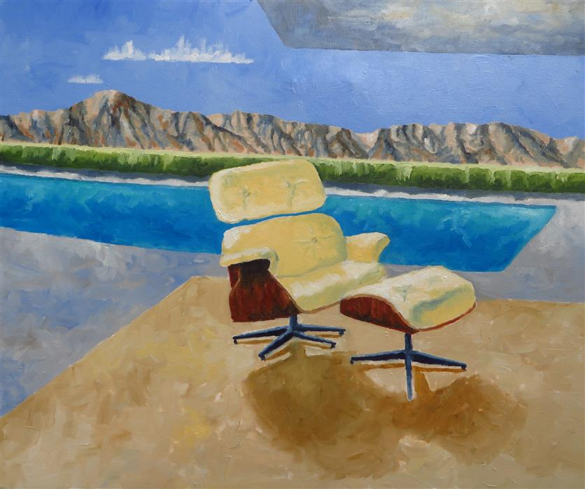 Discover Original Art by Mitchell Freifeld | Emes Chair oil painting | Art for Sale Online at UGallery