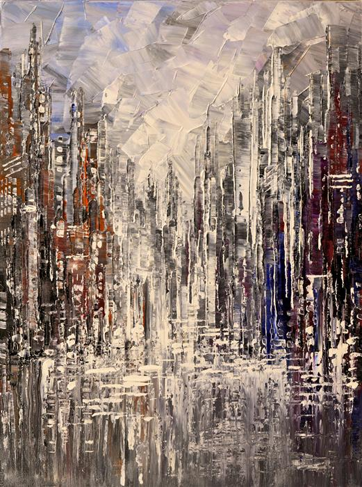 Discover Original Art by Tatiana Iliina | Pewter & Shine acrylic painting | Art for Sale Online at UGallery