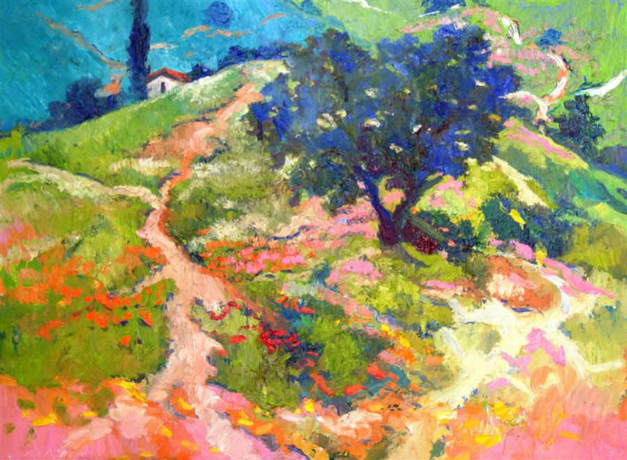 Discover Original Art by Suren Nersisyan   Memories from Summer oil painting   Art for Sale Online at UGallery