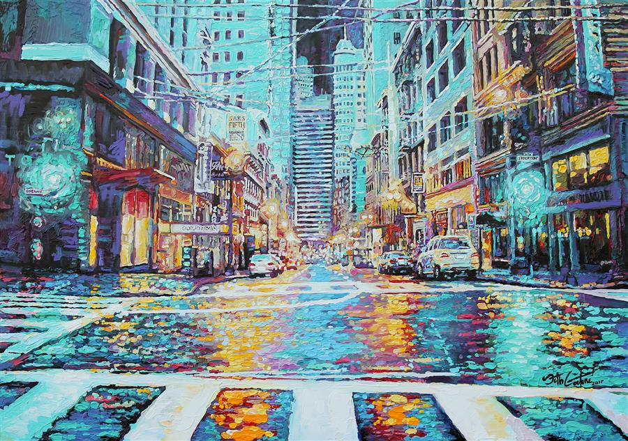 Discover Original Art by Seth Couture | Where All the Pretty Things Are, Union Square acrylic painting | Art for Sale Online at UGallery