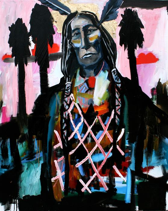 Discover Original Art by Scott Dykema   Two Feathers and Hollywood mixed media artwork   Art for Sale Online at UGallery