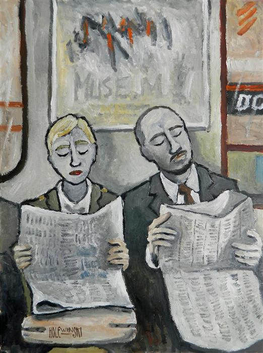 Discover Original Art by Robert  Holewinski | New York Subway oil painting | Art for Sale Online at UGallery