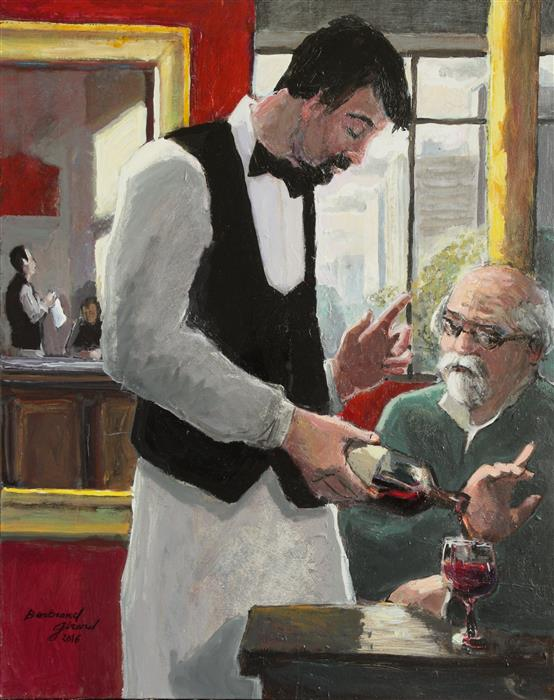 Discover Original Art by Bertrand Girard | The Glass of Wine acrylic painting | Art for Sale Online at UGallery