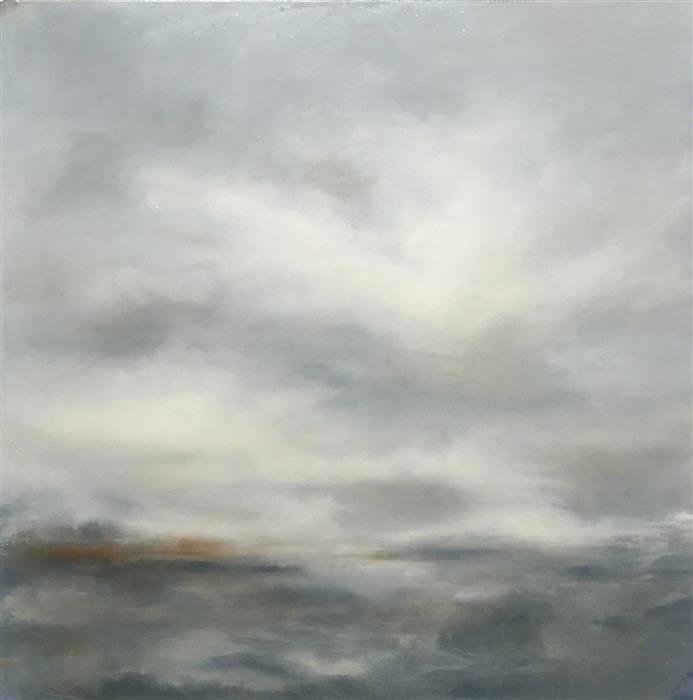 Discover Original Art by Faith Taylor   Navigating the Grey oil painting   Art for Sale Online at UGallery
