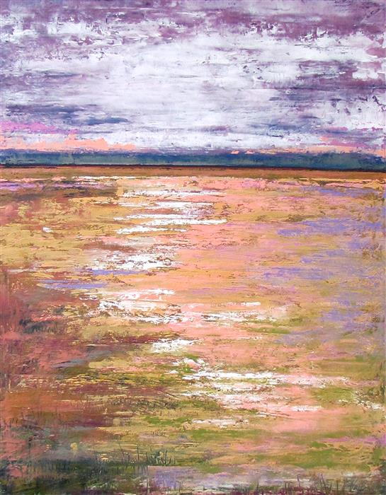 Discover Original Art by Valerie Berkely | Purple Sky oil painting | Art for Sale Online at UGallery