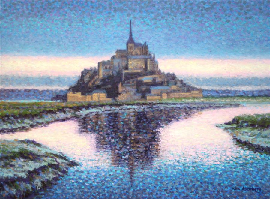 Discover Original Art by Kim Stenberg | Mont Saint-Michel Dreams oil painting | Art for Sale Online at UGallery