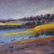 Original art for sale at UGallery.com | Morning Mist Over Fields by Sarah Beth Goncarova | $525 | oil painting | http://www.ugallery.com/oil-painting-morning-mist-over-fields
