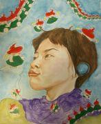 ink artwork,Self Portrait
