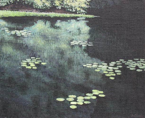 Original art for sale at UGallery.com | Summer Pond by BARRY CLOSE | $825 | Acrylic painting | 20' h x 24' w | http://www.ugallery.com/acrylic-painting-summer-pond