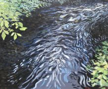 Discover Original Art by Barry Close | Downstream acrylic painting | Art for Sale Online at UGallery