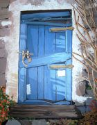 Original art for sale at UGallery.com | La Porte Bleue by Patricia Freeman | $475 | acrylic painting | http://www.ugallery.com/acrylic-painting-la-porte-bleue